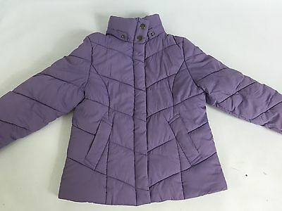 Girls Next Purple Quilted Thick Coat Age 4-5