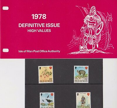 ISLE OF MAN Presentation Pack 1978 DEFINITIVE ISSUE HIGH VALUES 10% off 5+