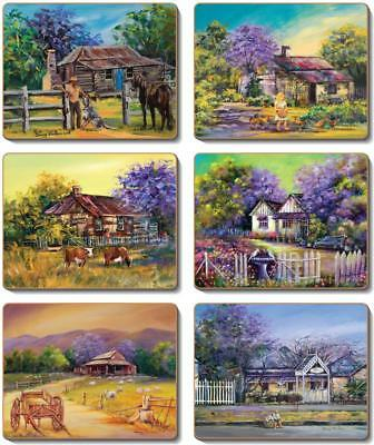 Country Inspired Kitchen JACARANDA HOUSE Cinnamon Cork backed Placemats or Co...