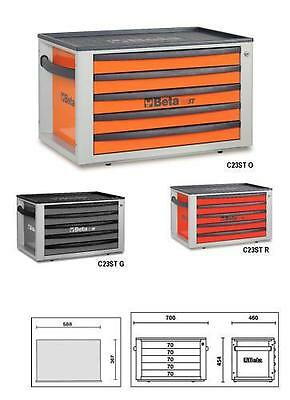 Beta Tools Italy C23St Portable 5 Drawer Toolchest Toolbox In Orange