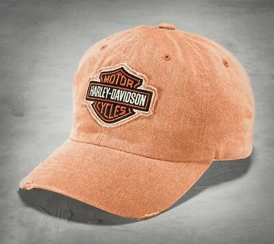 Harley-Davidson Orange Frayed Logo Cap Schirmmütze - Unigröße, orange