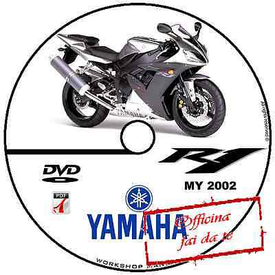 Manuale Officina Yamaha Yzf - R1 2002 Workshop Manual Service Software Cd Dvd