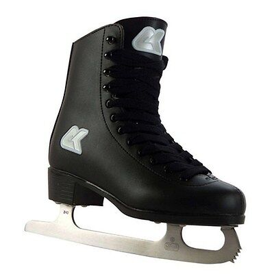 Xcess High Top Mens/Womens/Kids Wide Fit Ice Skates Leather Lining Black UK2 -12