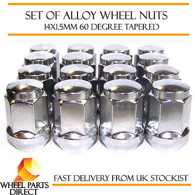 Alloy Wheel Nuts (16) 14x1.5 Bolts Tapered for Land Rover Discovery [Mk2] 98-04