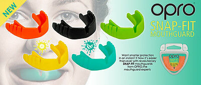 Opro Snap Fit Junior Kids Mouth Guard Gumshield Boxing Rugby MMA Martial Arts