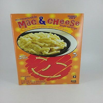 Trader Joe's microwavable Mac & Cheese white cheddar contains 5 packets
