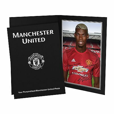 Personalised Manchester United Paul Pogba Autograph Signed Photo Folder