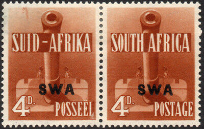 South West Africa 1941-3 4d red-brown Large War Effort with variety, SG 118a VFM