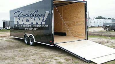 8.5x18 Enclosed Trailer Cargo V-Nose Tandem Utility Motorcycle Lawn 16 20 NEW