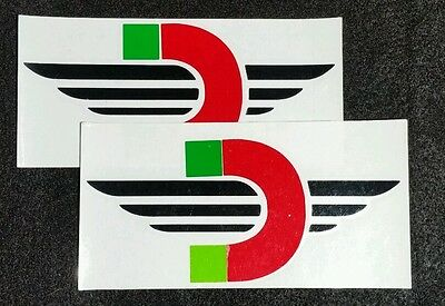 2 Ducati Motorcycle Emblems Racing Sponsor Decal Stickers Diavel Panigale 939
