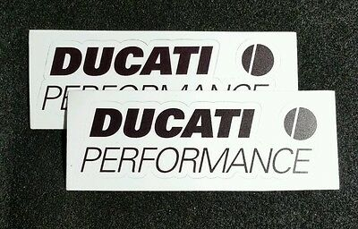 2 Ducati Performance Motorcycle Emblems Racing Sponsor Decals Stickers Diavel
