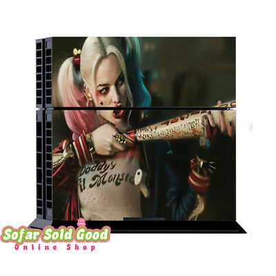 Harley Quinn PlayStation 4 PS4 Console + 2 Controllers Sticker Skin Cover Decal