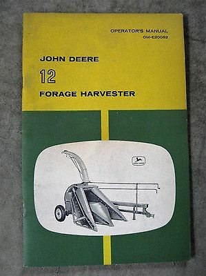 John Deere 12 Forage Harvester Operators manual