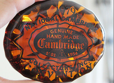 1979 Cambridge Glass Logo Convention Paperweight (C)