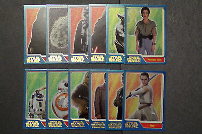 Topps Journey To Star Wars: The Force Awakens Rainbow Foil Cards Pick Your Card