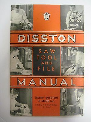 Vintage 1936 DISSTON Saw Tool and File MANUAL Henry Disston & Sons VGC