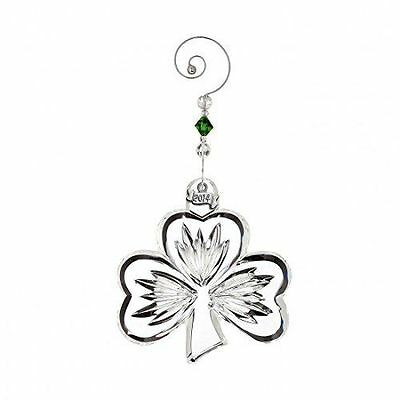 2014 WATERFORD CRYSTAL ORNAMENT Annual Shamrock with Enhancer New In Box 164588