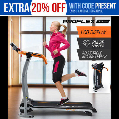 New PROFLEX Electric Treadmill Exercise Equipment Machine Fitness Home Compact