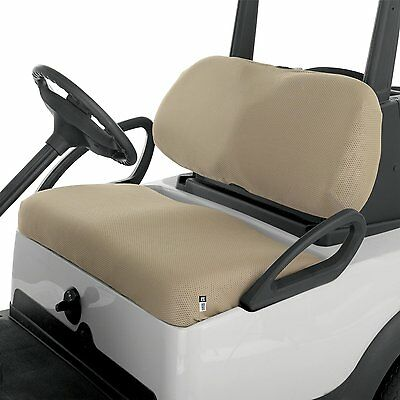Classic Accessories Golf Cart Diamond Mesh Bench Seat Cover BEIGE Khaki Buggy