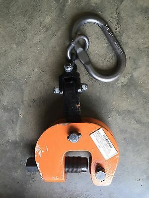 Renfroe SCPA-03.00-A 6000 Lb Load 0-2 In Jaw Cap Plate Dog Lifting Clamp 3 Ton
