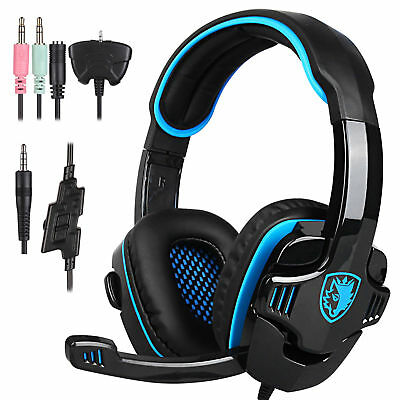 Sades SA-708GT Stereo Gaming Headphones Headset Headband with MIC for PC Laptop