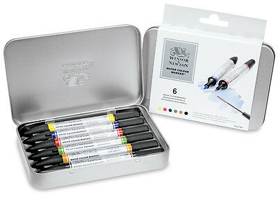 Winsor and Newton Water colour 6 marker set