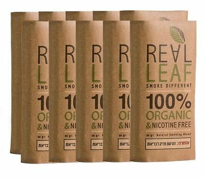 ReaL Leaf  Organic & Tobacco Free Herbal Smoking Mixture 100% Nicotine LOT OF 10