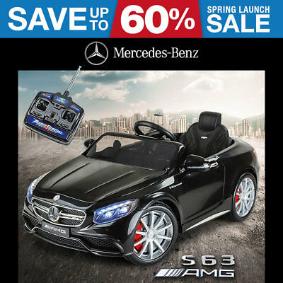 Kids Electric Ride on Car Licensed Mercedes Benz S 63 AMG Toy Battery Black 12v