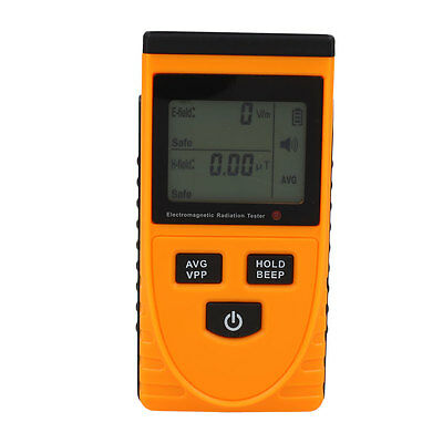 LCD Display Electromagnetic Radiation Detector Monitoring Meter EMF Instrument