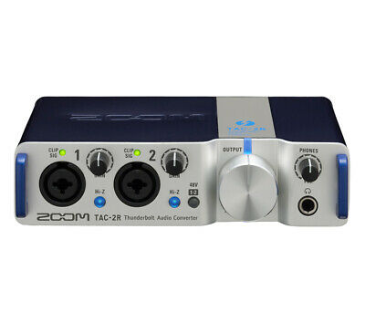Zoom TAC-2R Thunderbolt Audio Interface 2in/2out Sound Card w/ Cubase LE