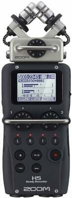Zoom H5 Portable Field Recorder 4-Channel Handy Recorder with Removable Mics
