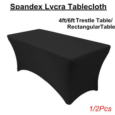 Spandex Lycra Stretched Tablecloth 6ft 4ft  Rectangle Trestle Table Cover