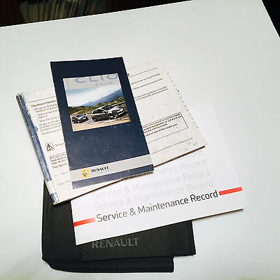 Renault CLIO FACELIFT Owners Handbook & Service Book Pack FROM 2006