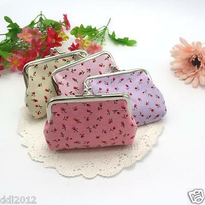 Women lady Fashion Flowers Wallet Card Holder Coin Change Purse Clutch Handbag