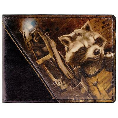 New Official Awesome Guardians Of The Galaxy Rocket Bi-Fold Wallet