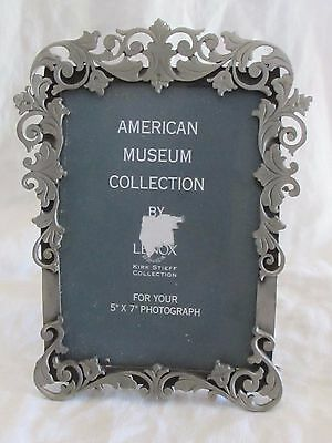 """Lenox American Museum Pewter Floral Picture Photo Frame Kirk Stieff 5x7"""""""