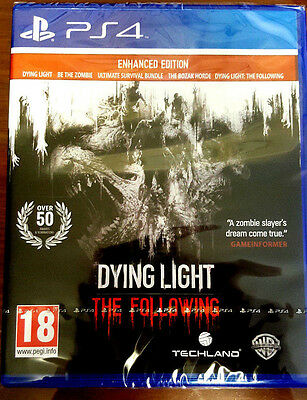 Dying Light The Following Enhanced Edition PS4 Playstation 4 Brand New In Stock