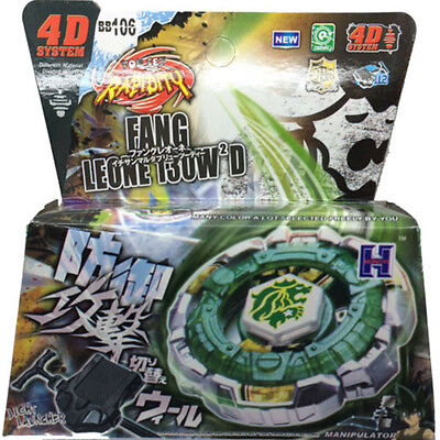 Fang Leone Beyblade 4D Top Metal Fusion Fight Master Launcher Battle Set Toy New