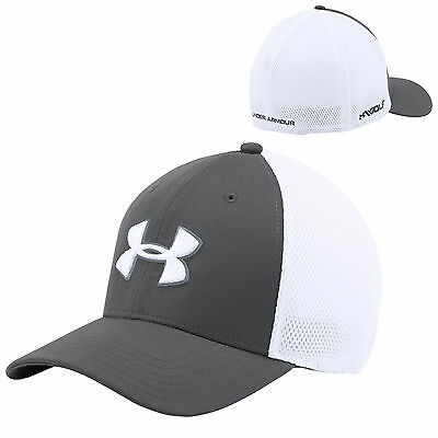 2016 Under Armour Mens Golf Mesh Stretch Fit 2.0 Hat New Baseball Cap Ua Sports
