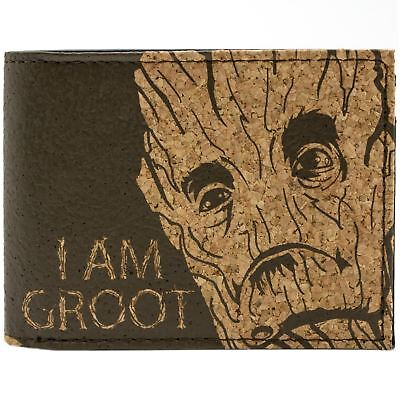 New Official Awesome Cork Syle I Am Groot Guardians Of The Galaxy Bi-Fold Wallet