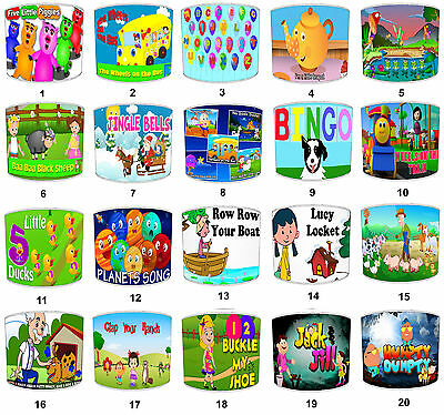 Children`s Nursery Rhymes Lampshades Ideal To Match Nursery Rhymes Wall Decals.