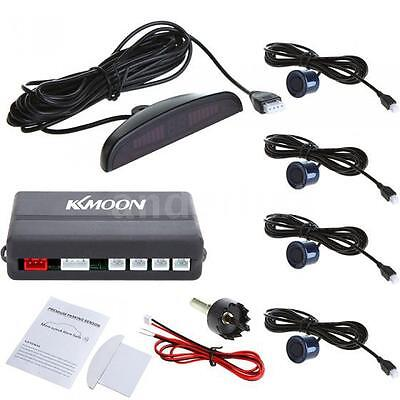 KKMOON LED Car 4 Dark Blue Parking Sensors Reverse Radar Alert System 12V G1G6