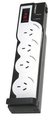 New Crest - PPBS4 - 4 Way Powerboard with Surge