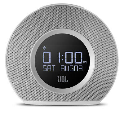 New JBL - JBLHORIZONWHTEU - Bluetooth    Clock Radio - White