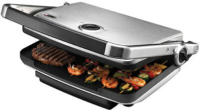 NEW Sunbeam - GC7850B - Cafe Contact Grill & Sandwich Press from Bing Lee