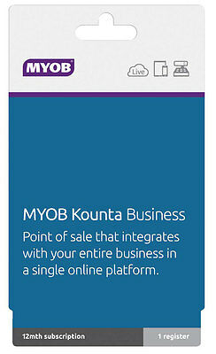 NEW MYOB - Kounta Business Plan - 12 months subscription from Bing Lee