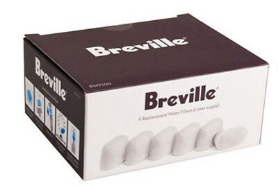 NEW Breville - BWF100 - 6 Water Filters from Bing Lee