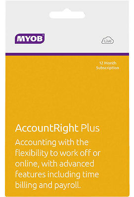 NEW MYOB - AccountRight Plus - 12 Month Subscription from Bing Lee
