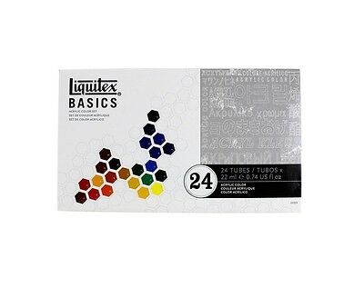 Liquitex Basics - Artists' Acrylic Paints - Box Set of 24 Tubes (22ml)