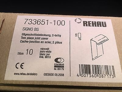 Rehau 733651-100 Signo BS 10 X 2 Piece White Joint Covers 170 X 70 (BE2L)